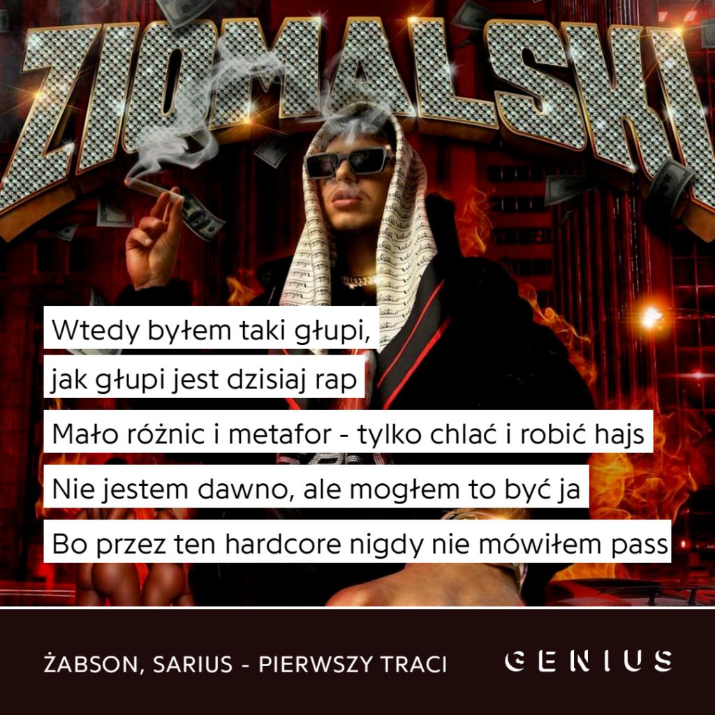 Żabson feat. Sarius - Pierwszy track cytat